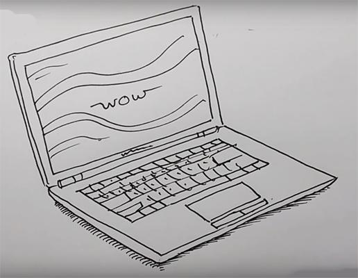 How to Draw a Laptop_国际_蛋蛋赞