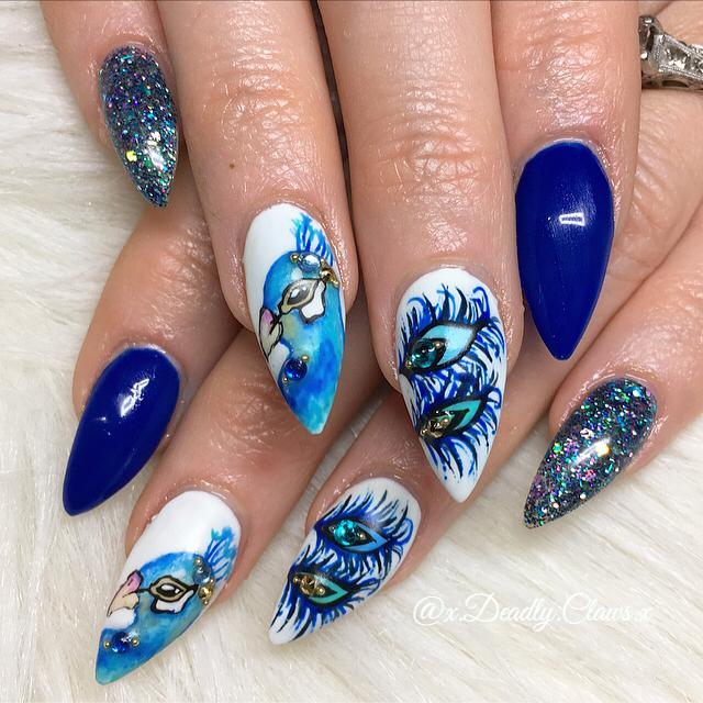 Superb Peacock Feather Nail Art Ideas