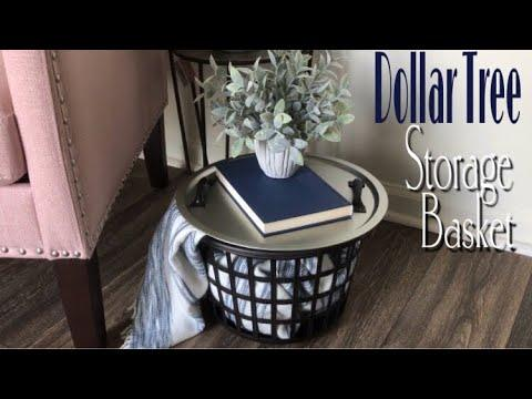 Dollar Tree Diy Storage Basket Side Table