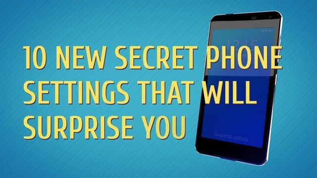 Secret phone settings