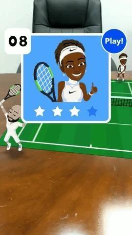 Challenge Serena Williams in Augmented Reality Tennis via