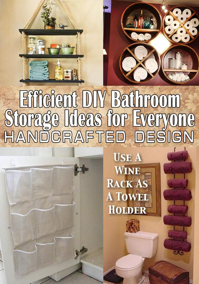 Efficient DIY Bathroom Storage Ideas For Everyone