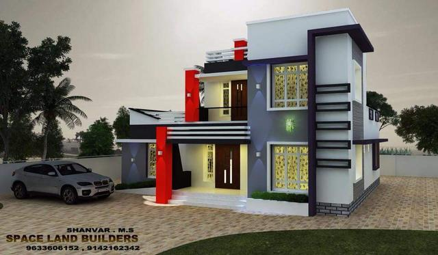 Home Design Cute Modern Double Floor Home Elevation Designs