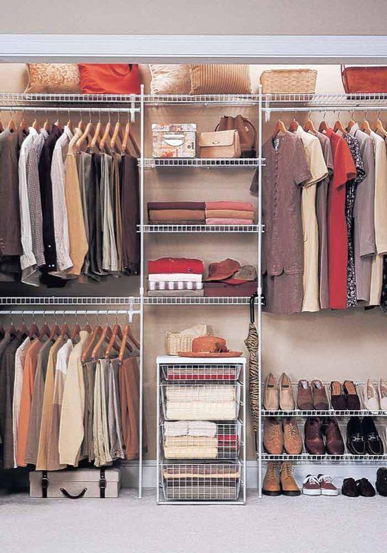 The Idea Of A Doorless Closet Design Is Simple And Artistic
