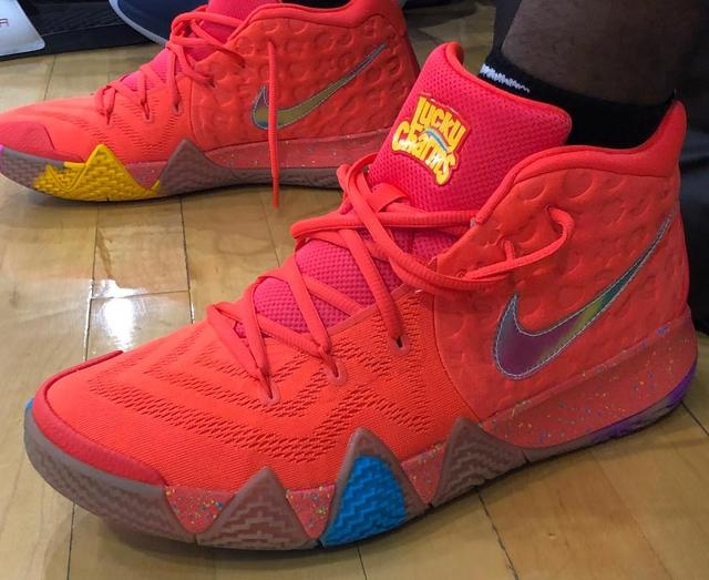796ded9ceec6 Get a Good Look at Kyrie Irving s Delicious Lucky Charms Sneakers  ...