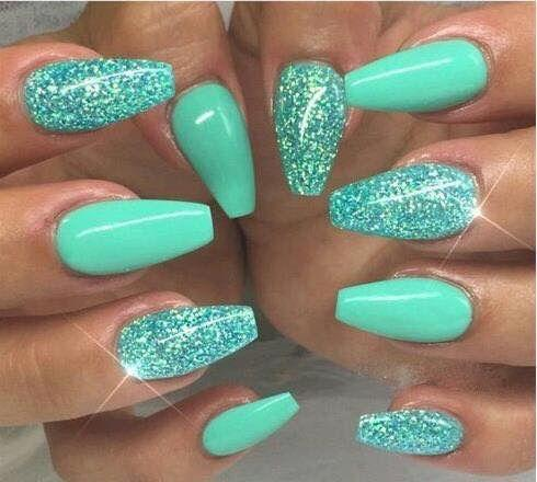 30 Most Beautiful Mint Green Nails Designs Fresh Colors For