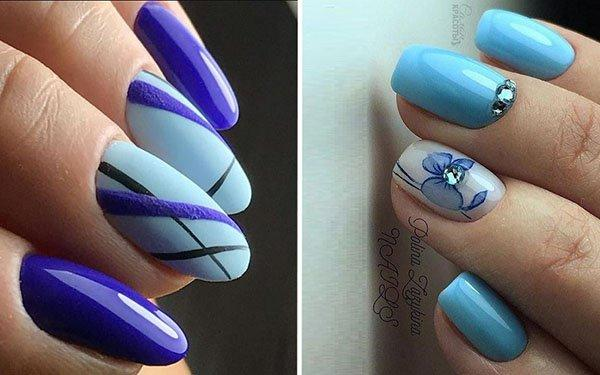 Blue Manicure 2018 The Best Nail Design In Summer