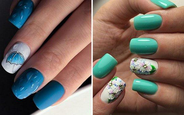 Blue Manicure 2018: the Best Nail Design In Summer_国际_蛋蛋赞