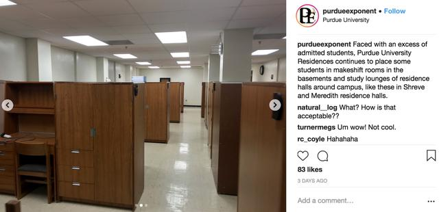 people are horrified by these images of temp dorms at purdue university the school says