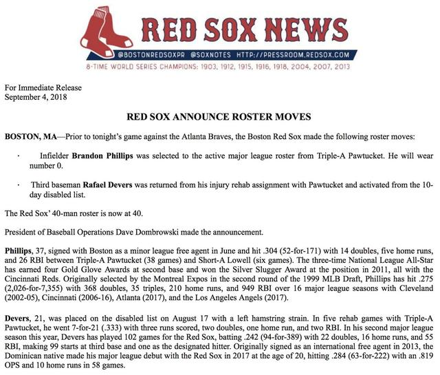 cc8dd60b6 Brandon Phillips to Wear Unusual Number for Red Sox 国际 蛋蛋赞