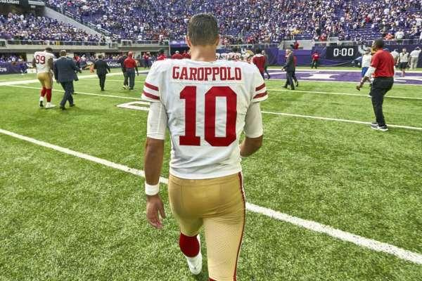 73fd66ee4 49ers  Jimmy Garoppolo dealt with adjustment before first NFL loss  ...