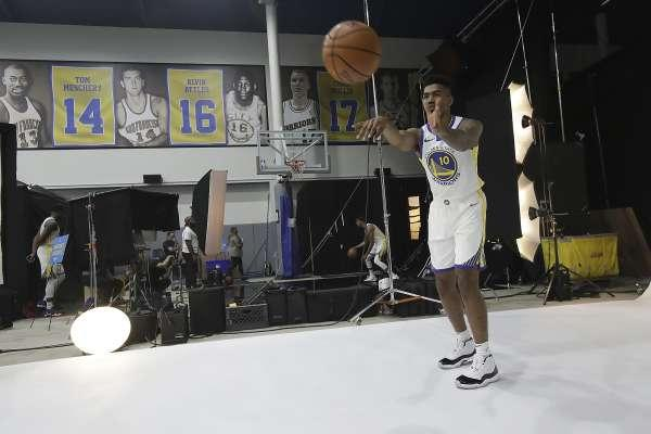 ... Warriors  Jacob Evans works to ease concerns about his jump shot 2of  5Golden State Warriors  Jacob Evans III poses ... ffeac5aeb