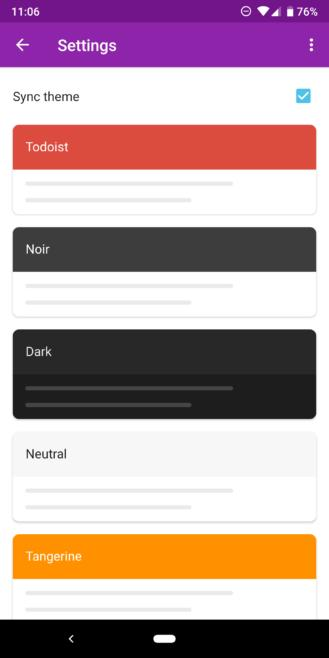 Todoist adds dark theme to its Android app, launches new