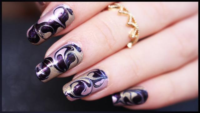 Diy Nail Decals Dry Marble Nail Art Tutorial Makeupmagique