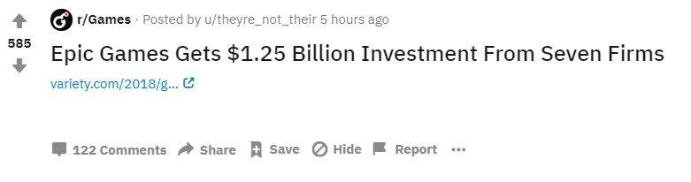 """Infinite Money Machine"""" Epic Games Lands $1 25 Billion from"""