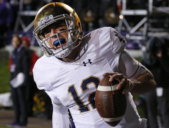 AP sources: Notre Dame QB Wimbush to start for ailing Book