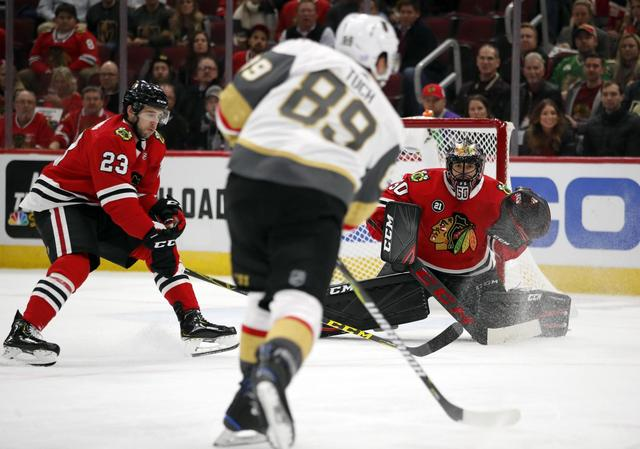 Golden Knights pound Blackhawks 8-3 for 4th straight win