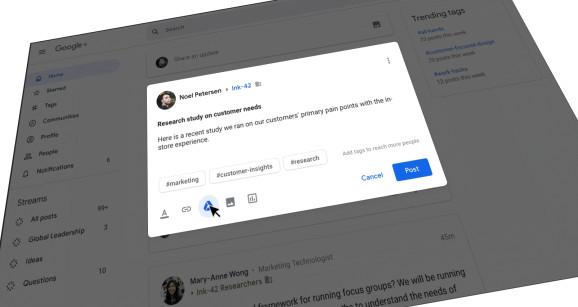 Google+ in G Suite gets content tagging, custom streams, and more engagement metrics