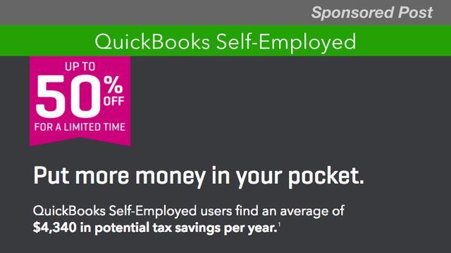 Get up to 50 Percent Off QuickBooks Self-Employed_国际_蛋蛋赞