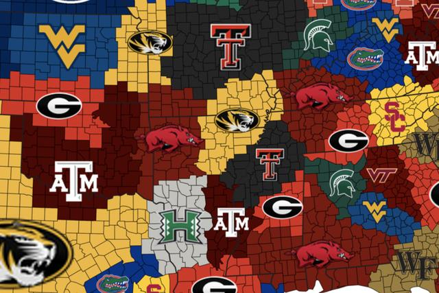 2007 College Football Empires Map: The wildest season ever, mapped_