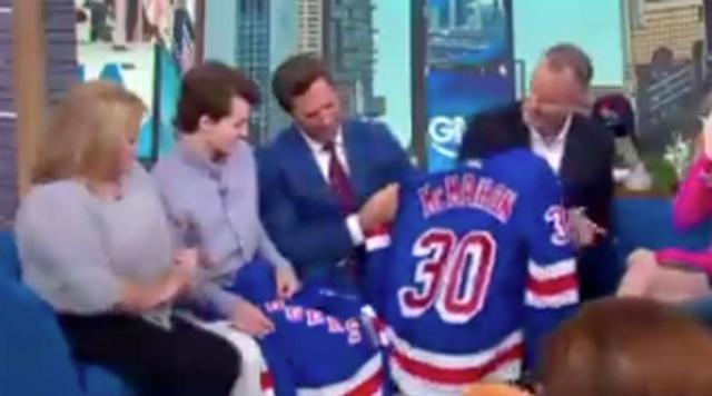 Watch Rangers Henrik Lundqvist Surprises Three Time Cancer