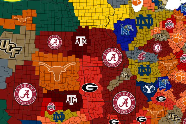 College Football Empires Map: Texas is suddenly top 5_国际_蛋蛋赞