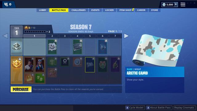 Fortnite Season 7 Adds Wraps, a New Cosmetic Type to Unlock