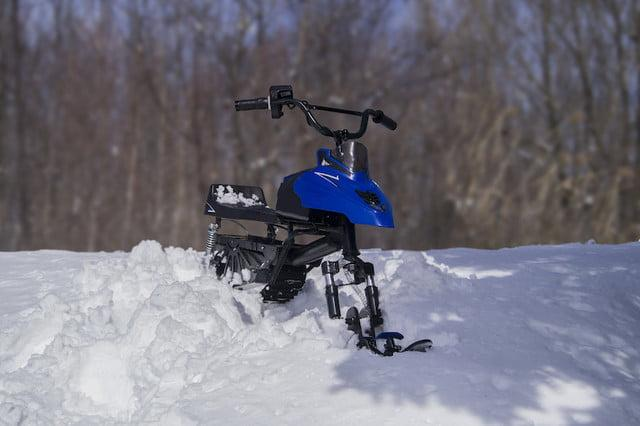The Naseka electric snowmobile is built for kids, but you'll