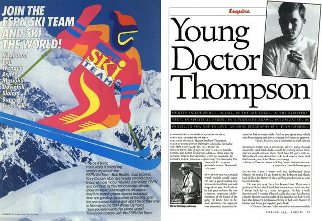 Young Doctor Thompson E. JEAN CARROLL February 1 1993