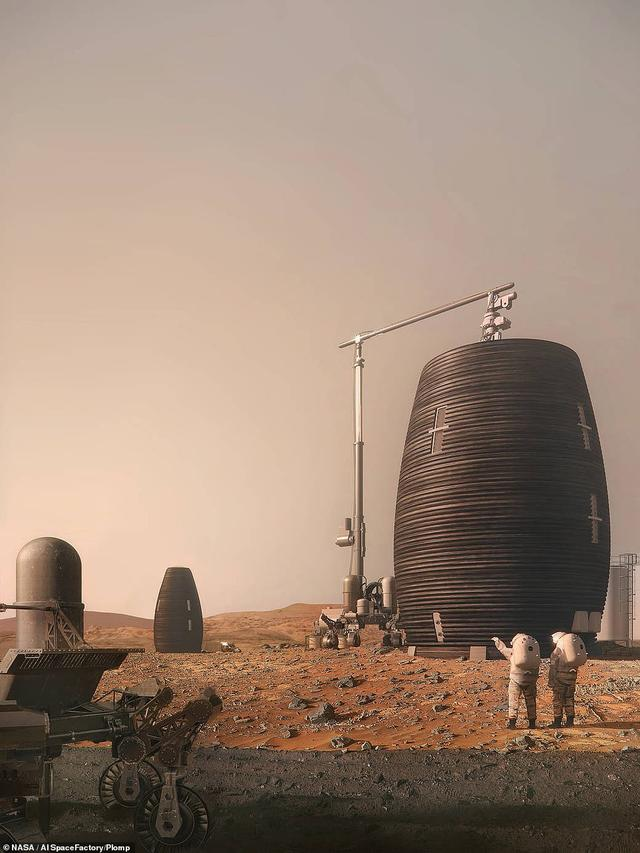 NASA reveals plans for a 3D-printed pod that could shelter colonists on the Red Planet from harsh winds and solar radiation - and it comes with its own labs, sleeping and fitness areas