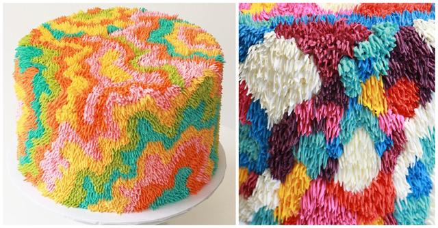 Self-Taught Baker Makes Astonishing Cakes That Look Exactly Like Shag Rugs