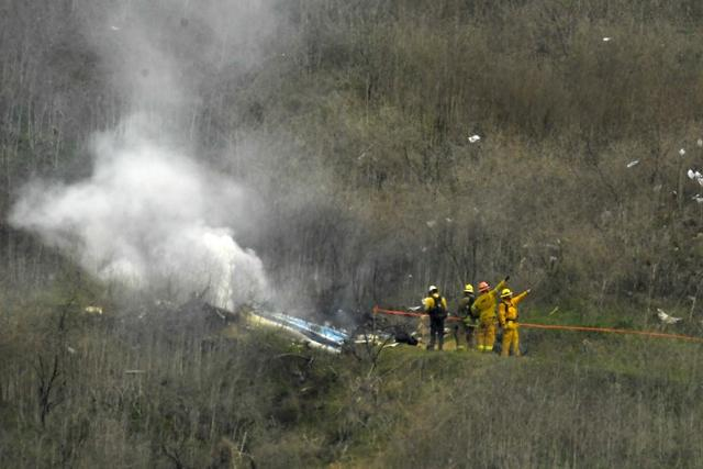I watched as Kobe Bryant's helicopter crashed and burst into flames