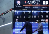 Indonesia shares lower at close of trade; Jakarta Stock Exchange Composite down 1.56%
