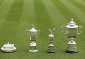 Which golfer has won each of the four major championships the most times?