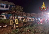 Two dead and 18 injured after train ploughs into truck in Italy horror crash