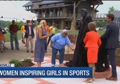 Youth leaders look at new Pat Summitt statue as inspiration for girls