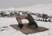 This elite police force guards the Himalayas -- and also practices yoga