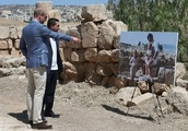 Prince William visits Jordan ruins where Duchess of Cambridge was pictured as child