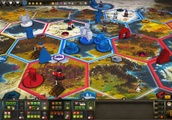 The mechs of Scythe: Digital Edition stomp out of Early Access
