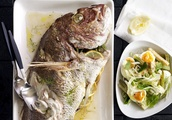 Vermouth Snapper With Fennel, Celeriac and Soft Egg