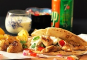 Perfect Recipe Greek Chicken Souvlaki Pita Wraps with Herb Roasted Potatoes