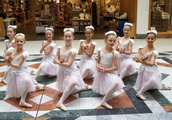 English Youth Ballet perform Swan Lake in Wimbledon shopping centre