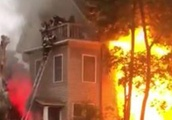 Residents Rescued From Porch of Burning Brockton Home