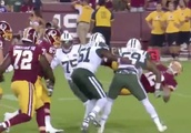 VIDEO: Jets Rookie Fined Nearly Five Times What He's Made in the NFL After Big Hit
