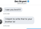Dez Bryant Mistakenly Sent DM to Jake Paul and the Response Was 100 Percent Savage