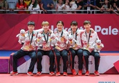 China wins 2 gold medals from table tennis team finals at 18th Asian Games