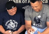 LLWS Hero 'Big Al' Hangs Out and Talks Dingers With Giancarlo Stanton at Yankee Stadium