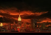 The classic-style adventure game background art of Unavowed