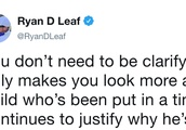 Ryan Leaf Bodybags Urban Meyer on Twitter Over Latest Statement