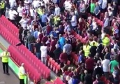 Aston Villa fans fight among themselves during humbling 4-1 defeat at Sheffield United